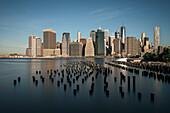 Blick auf Skyline von Manhattan mit dem ONE World Trade Center, New York City, Vereinigte Staaten von Amerika, USA, Nordamerika