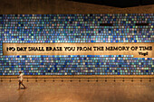 Installation in the 9/11 Memorial, museum, Manhattan, NYC, New York City, United States of America, USA, North America