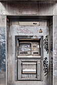 destroyed ATM, Williamsburg, Brooklyn, NYC, New York City, United States of America, USA, North America