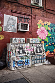 murals and streetart in the streets of Williamsburg, Brooklyn, NYC, New York City, United States of America, USA, North America