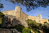 Castillo de Santueri, siglo XIV, Felanitx, Sierra de Levante, Mallorca, balearic islands, spain, europe.