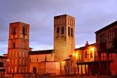 Church of San Martin. Plaza de la Villa or Main square of Arevalo, Avila, Spain.