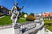 One of the most beautiful baroque gardens in Prague, Vrtba Garden, Mala Strana, Czech Republic, Europe.