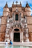 Main façade of Santa Cruz church, Coimbra, Portugal.