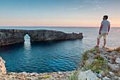 Sunset in Pont d'en Gil, Menorca.