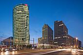 Potsdamer Platz,  Berlin ,  Sony Center, DB Tower , Beisheim Center, S Bahn Entrance, Berlin Center, Germany