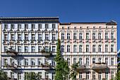 restored residential houses in Oderbergstrasse, Prenzlauer Berg, Berlin