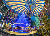 Christmas market at Sony Center, Potsdamer Platz, Berlin