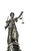 Justitia, Roemerberg,  Frankfurt Germany