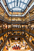 Liberty store, interieur, Tudor style, Tudor Revival architecture,  Regent Street, London, England, UK