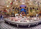 Fresh Fish at  Harrods Department Store, Knightsbridge, London, UK