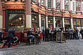 Leadenhall Market, Lamp Tavern Pub, Financial  District, London, UK