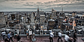 Panoramic view from Rockefeller Center, Big Apple, Empire State building, Skyline, New York, United States of America