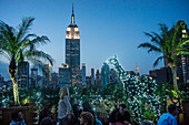 Empire State building, Rooftop Bar 230 Fith Avenue, Manhattan ,  New York, USA
