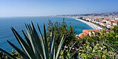Nice, Panorama, Promenade des Anglais, Alpes Maritimes, Provence, French Riviera, Mediterranean, France, Europe