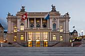 Opera House, Sechselaeuten Square,  Zurich, Switzerland, Europe