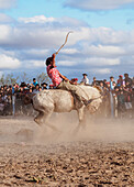 Jineteada Gaucha, traditional sport, Vallecito, San Juan Province, Argentina, South America