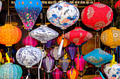 Paper lanterns for sale in a shop in Hoi An, Quang Nam, Vietnam, Indochina, Southeast Asia, Asia