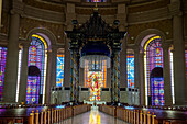 Interior of the Basilica of Our Lady of Peace, Yamassoukrou, Ivory Coast, West Africa, Africa