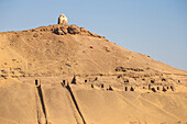 Tombs of the Nobles on the West Bank, Aswan, Upper Egypt, Egypt, North Africa, Africa