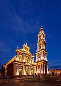 Saint Francis Church, twilight, Salta, Argentina, South America