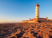 Lighthouse at sunset, La Serena, Coquimbo Region, Chile, South America