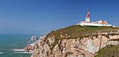 Lighthouse, Cabo da Roca, the westernmost point of Europe, Atlantic Ocean, Estremadura, Portugal, Europe