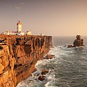 Cabo Carvoeiro lighthouse, Costa da Prata, Silver Coast, Peniche, Atlantic Ocean, Portugal, Europe