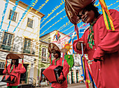 Sao Joao Festival decorations in Pelourinho, Old Town, Salvador, State of Bahia, Brazil, South America