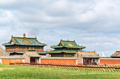 Temples in Erdene Zuu Monastery, Harhorin, South Hangay province, Mongolia, Central Asia, Asia