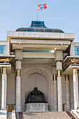 Genghis Khan statue at the Government Palace, Ulan Bator, Mongolia, Central Asia, Asia