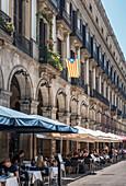 Plaza Real, Barcelona, Catalonia, Spain, Europe