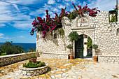 Monastery of Panagia Mirtiotissa, Corfu, Ionian islands, Greek Islands, Greece, Europe