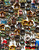 Small magnet boards as a souvenir, country-specific motifs, Freiburg im Breisgau, Black Forest, Baden-Württemberg, Germany