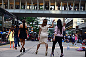 Ladies of the Phillipines at weekend in Central, Victoria Island, Hongkong, China