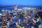 View from the Sky Tower on the downtown, Auckland, North Island, New Zealand
