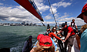 On the Americas Cup Yacht, Auckland, North Island, New Zealand