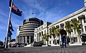 At the Parliament, Wellington, North Island, New Zealand