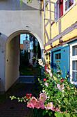 Small alleys at the Johannis Monastery, Stralsund, Ostseeküste, Mecklenburg-Western Pomerania, Germany
