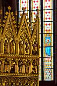 Golden Altar in Münster Bad Doberan, Baltic Sea Coast, Mecklenburg-Vorpommern, Germany