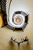 Spiral staircase in the hunting lodge Granitz, Rügen, Ostseeküste, Mecklenburg-Western Pomerania, Germany