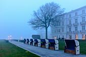 Mist at the luxury hotel Heiligendamm, Baltic Sea Coast, Mecklenburg-Western Pomerania