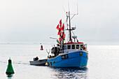 Fishing boat, island Poel, place Timmendorfer beach, Baltic Sea coast, Mecklenburg-Western Pomerania Germany
