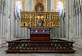 Altar in the St. Marien church, Stralsund, Baltic Sea coast, Mecklenburg-Western Pomerania, Germany