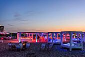 Beach bar with campfire from Warnemünde, Ostseeküste, Mecklenburg-Western Pomerania Germany