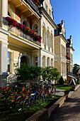 Villa on the beach promenade, Ahlbeck, Usedom, Ostseeküste, Mecklenburg-Western Pomerania, Germany