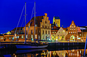 In the harbor especially a lot is turned for the SOKO, Wismar, Ostseeküste, Mecklenburg-Western Pomerania Germany