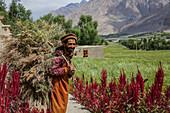 Afghan farmer in Wakhan, Afghanistan, Asia