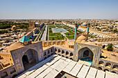 View over Naqsh-e Jahan Square, Esfahan, Iran, Asia