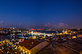 Istanbul panorama with view on the galat bridge, Turkey